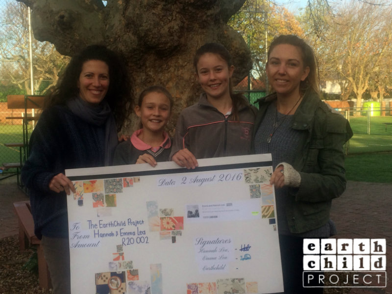 Tuesday was a very special day for the Earthchild Project as we were invited to Micklefield Primary School in Rondebosch, Cape Town, where we were awarded a beautiful hand-crafted check for R20 002 from our incredible young eco-activists, Hannah Lea and Emma. Being invited to the school assembly was a true honour for us and seeing how compassionate and enthused these young activists are was truly inspiring.